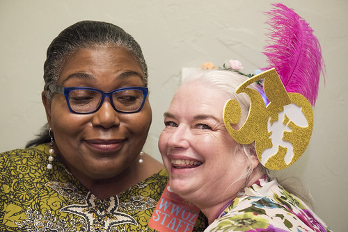 Maryse Dejean and Dianna Thompson at the WWOZ Groove Gala at Tableau and Le Petit Theatre in New Orleans on September 5, 2019. Photo by Ryan Hodgson-Rigsbee RHRphoto.com
