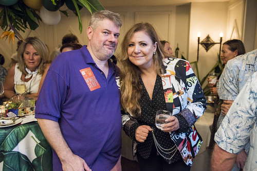 Dave Ankers and Lena Prima in the VIP Oasis at the Groove Gala on Sep. 5, 2019. Photo by Ryan Hodgson-Rigsbee rhrphoto.com.