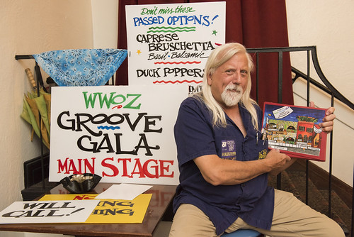 Volunteer at the Groove Gala on Sep. 5, 2019. Photo by Ryan Hodgson-Rigsbee rhrphoto.com.