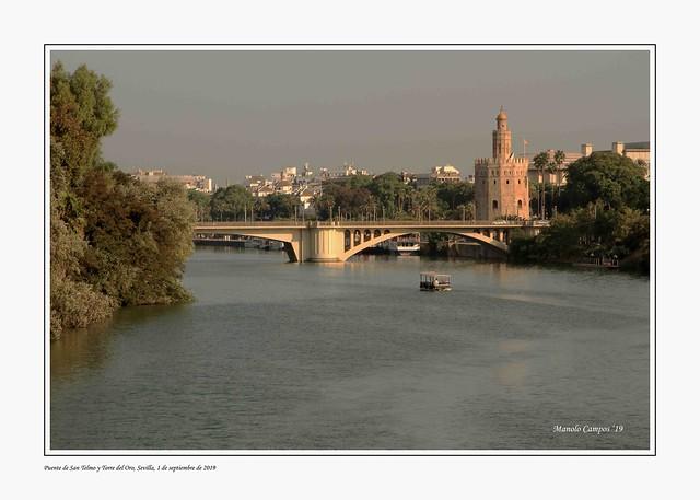 Puente de San Telmo y Torre del Oro, Sevilla.