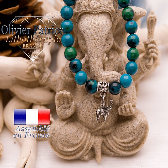 Bracelet chrysocolle et ses 5 finitions charms en alliage