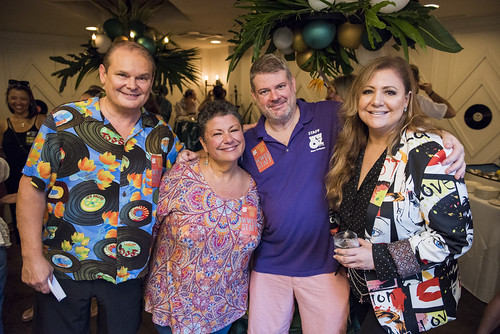 Louis Dudoussat, Beth Arroyo Utterback, Dave Ankers, and Lena Prima in the VIP Oasis at the Groove Gala on Sep. 5, 2019. Photo by Ryan Hodgson-Rigsbee rhrphoto.com.