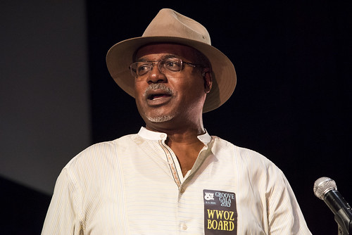 Norman Robinson MCs at the WWOZ Groove Gala at Tableau and Le Petit Theatre in New Orleans on September 5, 2019. Photo by Ryan Hodgson-Rigsbee RHRphoto.com