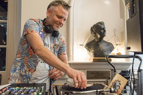 Brice Nice DJs at the WWOZ Groove Gala at Tableau and Le Petit Theatre in New Orleans on September 5, 2019. Photo by Ryan Hodgson-Rigsbee RHRphoto.com