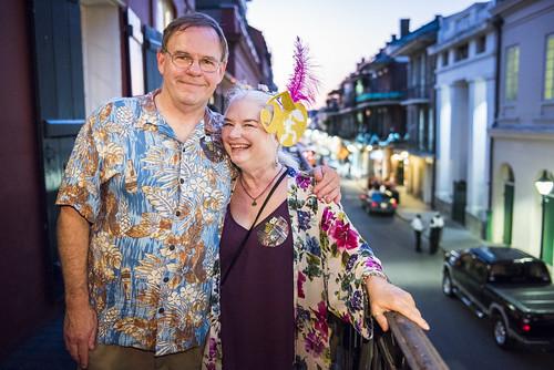 Mike and Dianna Thompson at the WWOZ Groove Gala at Tableau and Le Petit Theatre in New Orleans on September 5, 2019. Photo by Ryan Hodgson-Rigsbee RHRphoto.com