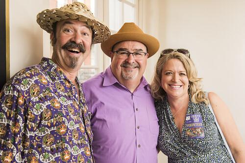 Bill DeTurk, John Papa Gros, and Aimee Landreneau-DeTurk at the Groove Gala on Sep. 5, 2019. Photo by Ryan Hodgson-Rigsbee rhrphoto.com.