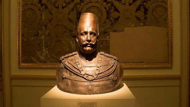 The bronze bust of King Fouad I of Egypt and Sudan