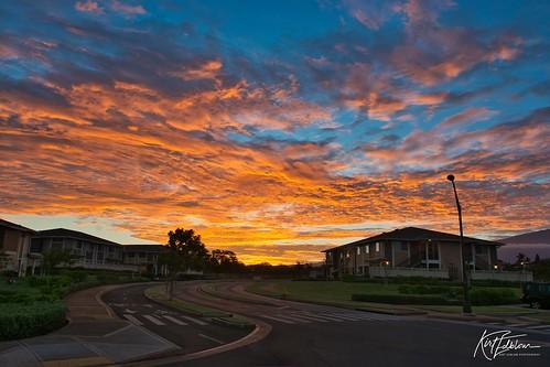maui mauihawaii kihei kiheihawaii hawaii scenic serene sunset sunrise sunlight red orange blue gaylene wife milf complex condo morning bluesky sky skyline landscape tropical kirt kirtedblom edblom luminar nikon nikond7100 nikkor18140mmf3556