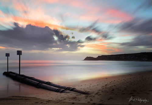 ocean sky seascape beach water clouds sunrise reflections landscape sand manly pipes sydney australia cliffs coastal