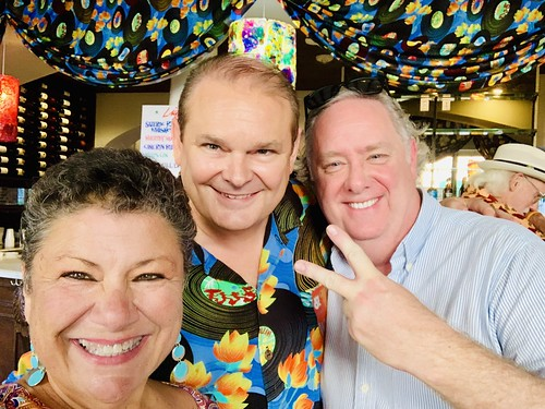 Beth Arroyo Utterback, Louis Dudoussat, Beau Royster at the Groove Gala - Sep. 5, 2019. Photo by Beth Arroyo Utterback.
