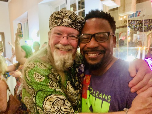 Tommy Boehm, Marcel McGee at the Groove Gala - Sep. 5, 2019. Photo by Beth Arroyo Utterback.