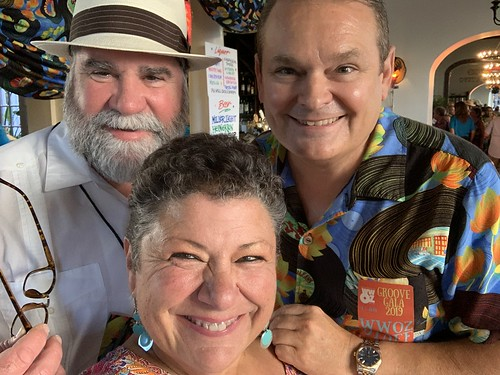 Dickie Brennan, Beth Arroyo Utterback, Louis Dudoussat at the Groove Gala - Sep. 5, 2019. Photo by Beth Arroyo Utterback.