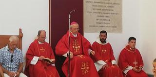 La Solenne Messa nella chiesa di Sant'Anselmo
