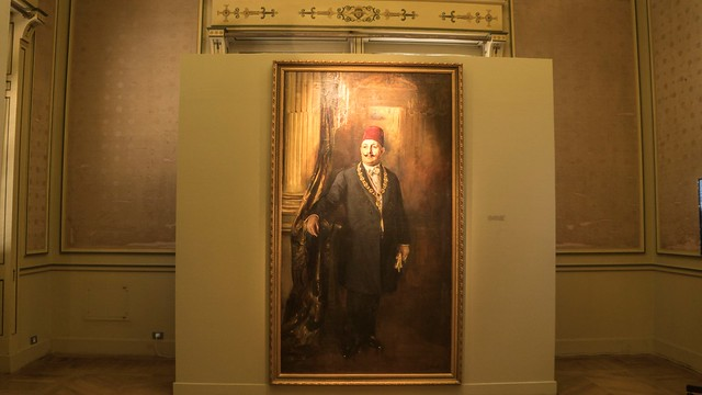 King Fouad I of Egypt painting