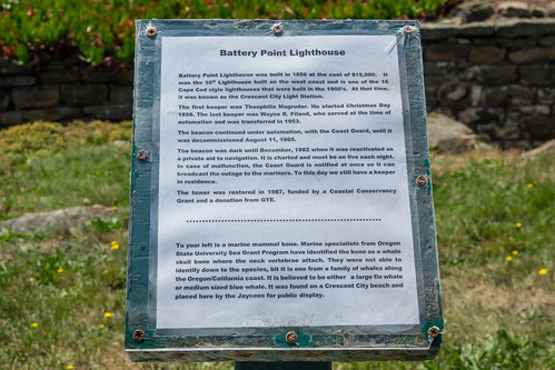 Info sign at Battery Point Lighthouse at Crescent City-01 8-20-19-1 | by George Lamson
