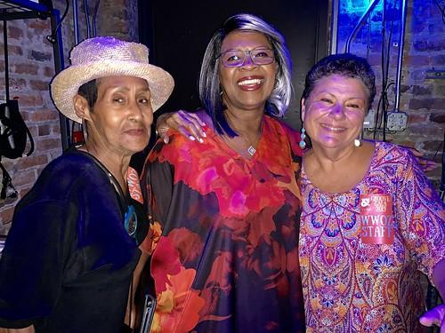 Dee Lindsey, Irma Thomas, Beth Arroyo Utterback at the Groove Gala - Sep. 5, 2019. Photo by Beth Arroyo Utterback.