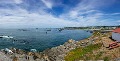 Coastline at Battery Point Lighthouse at Crescent City pano-01 8-20-19-Pano-1