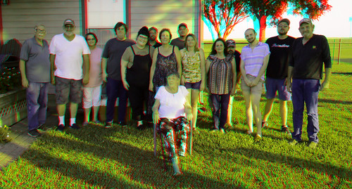 FAMILY REUNION GROUP 3D PHOTO RED CYAN ANAGYLPH 9-2-19-B