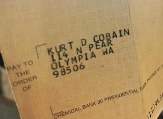Kurt Cobain Royalty Check