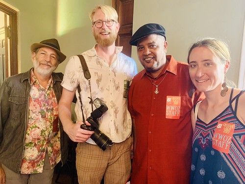 Charlie Steiner, Ryan Hodgson-Rigsbee, Action Jackson, Carrie Booher at the Groove Gala - Sep. 5, 2019. Photo by Beth Arroyo Utterback.