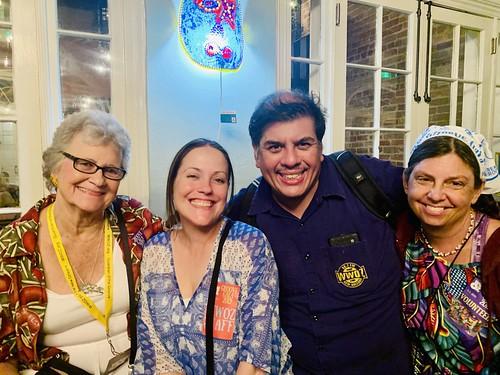 Bonnie Cochran, Ashli Richard Morris, Jorge Fuentes,  at the Groove Gala - Sep. 5, 2019. Photo by Beth Arroyo Utterback.