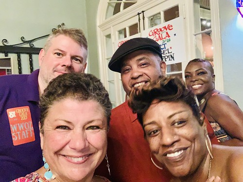 Dave Ankers, Beth Arroyo Utterback, Action Jackson, Monica Landry, KaTrina Griffin  at the Groove Gala - Sep. 5, 2019. Photo by Beth Arroyo Utterback.