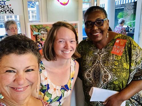 Beth Arroyo Utterback, Melanie Merz, Maryse Dejean at the Groove Gala - Sep. 5, 2019. Photo by Beth Arroyo Utterback.