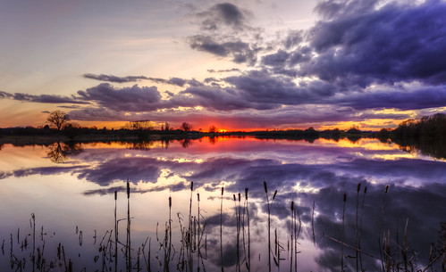 canon6d lake sunset colour clouds sky reflection landscape nature outdoors outside cambridgeshire uk