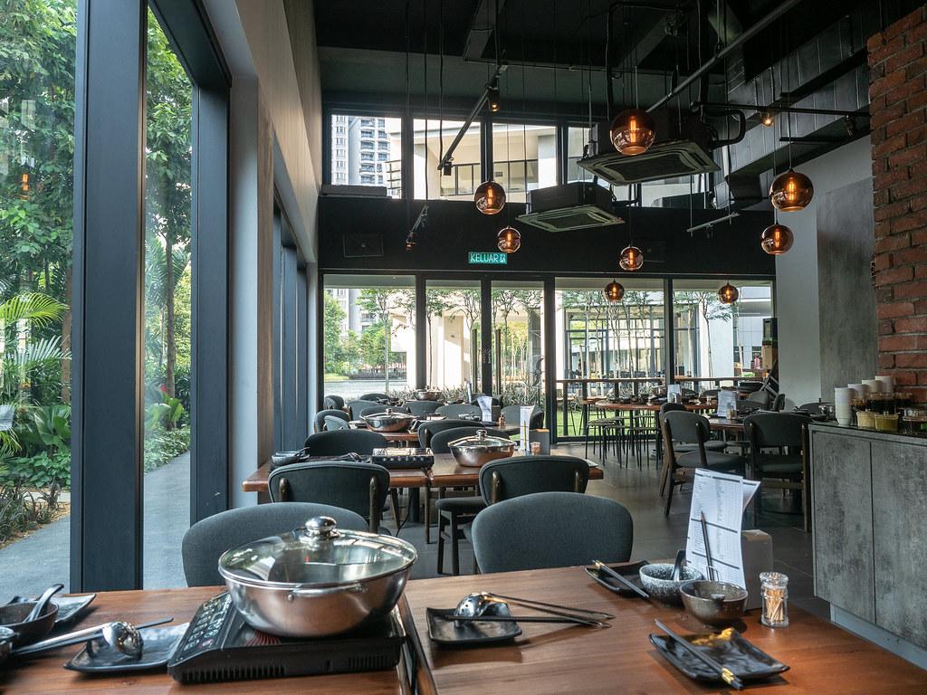 Interior of PoPo Hot Pot SS2 restaurant at The Hub, SS2