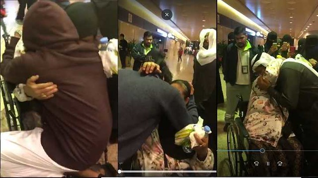 4121 A Saudi Family burst into tears at the Airport on the farewell of their Housemaid