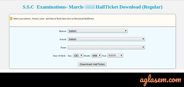 TS SSC Hall Tickets 2020