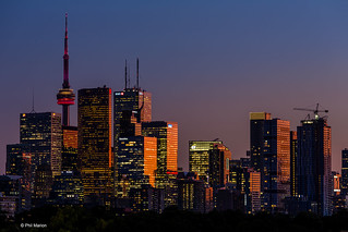 Toronto central business district after sunset | by Phil Marion (177 million views - THANKS)