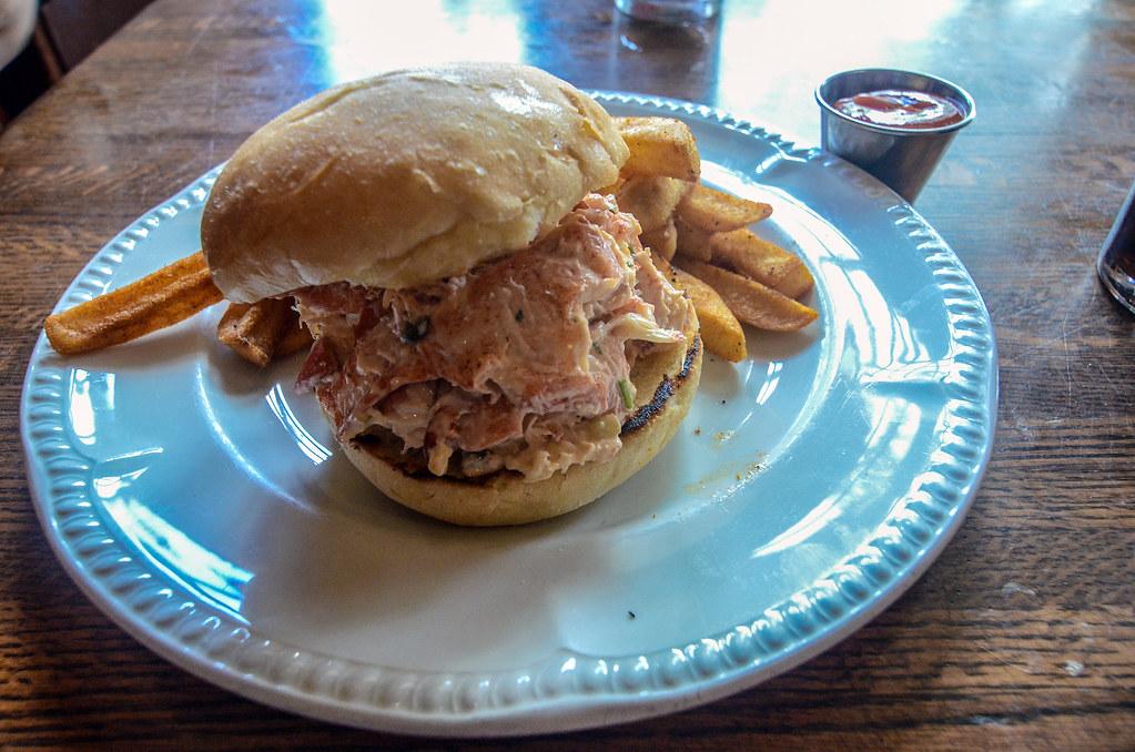 Lobster roll Liberty Tree Tavern MK