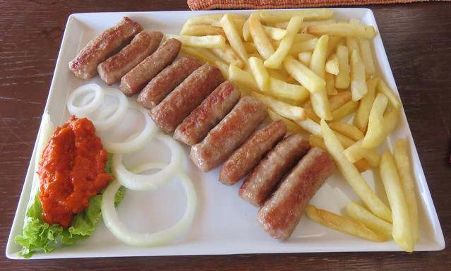 Croatian Ćevapi Meal (Mlini, Croatia)