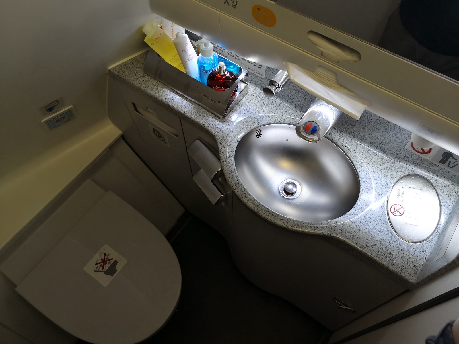 Inside the A330 lavatory