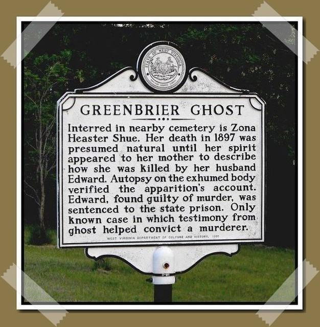 Greenbrier Ghost - Highway Marker