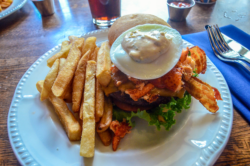 Lobster burger Liberty Tree Tavern MK