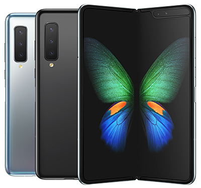Samsung Galaxy Fold is available in Cosmos Black and Space Silver.