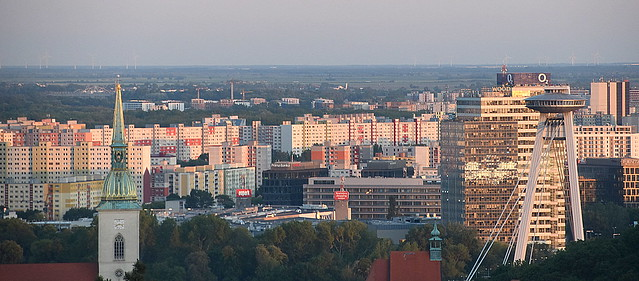 Buildings Cluster, Bratislava, Slovakia.