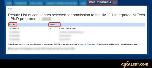 IIAST Result 2020 - Check Here for IIA Ph.D