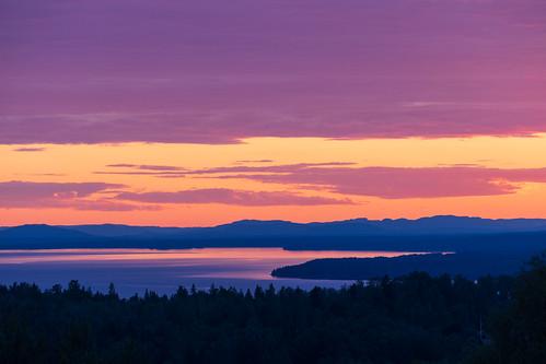 sverige landscape sunset water sweden outdoor lake lakesiljan moln summer plintsberg canonef100400mmf4556lisiiusm sjö layers sky nordiclight cloud canoneosr dalarna solnedgång dalarnaslän