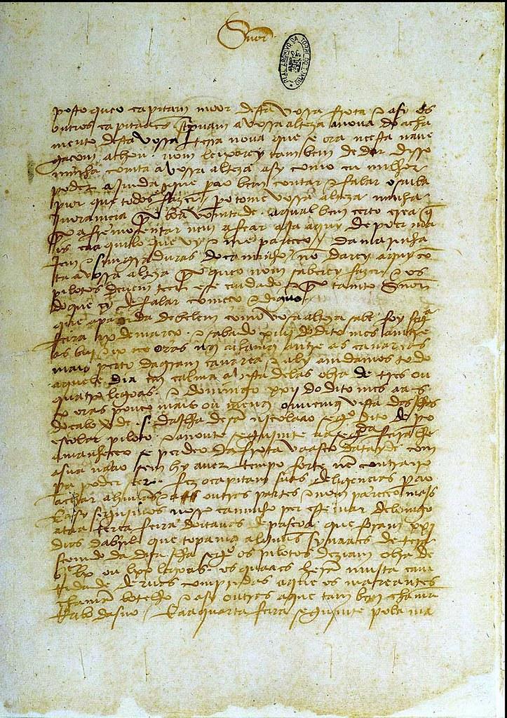 Imagem VI - Um fólio da Carta de Pêro Vaz de Caminha