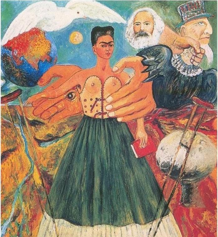 「馬克思主義將會治癒病人」,芙烈達·卡蘿,1954年。