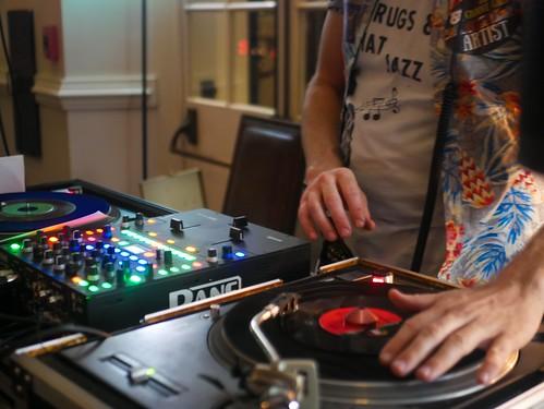 Brice Nice DJs at the Groove Gala - Sep. 5, 2019. Photo by Katherine Johnson.