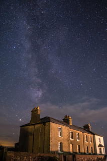 Milky Way over the cottages