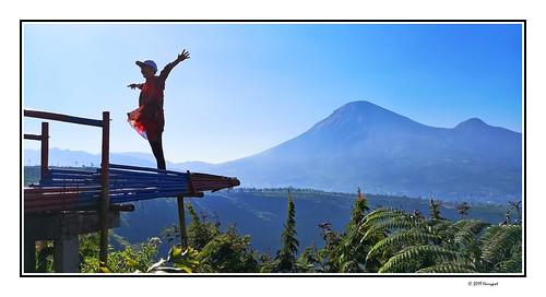 harrypwt indonesia java centraljava dieng wonosobo banjarnegara bukitcinta menjer landscape huaweip20pro p20pro smartphone borders framed people