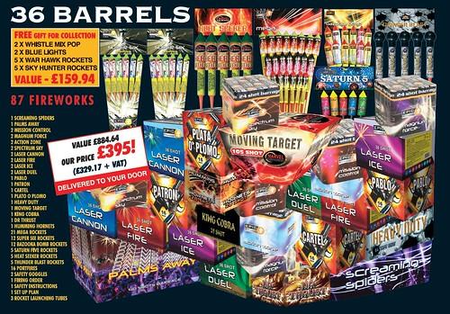NEW FOR 2019 - 36 Barrels DIY Fireworks Display Kit