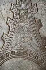 Northleach, SS Peter & Paul church, brass detail