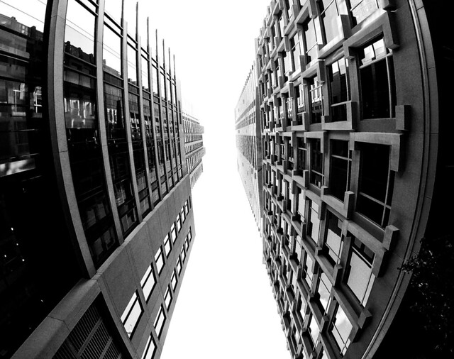 Downtown Montreal Looking Up