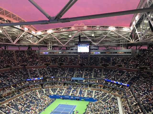 Start of Sunset at Arthur Ashe
